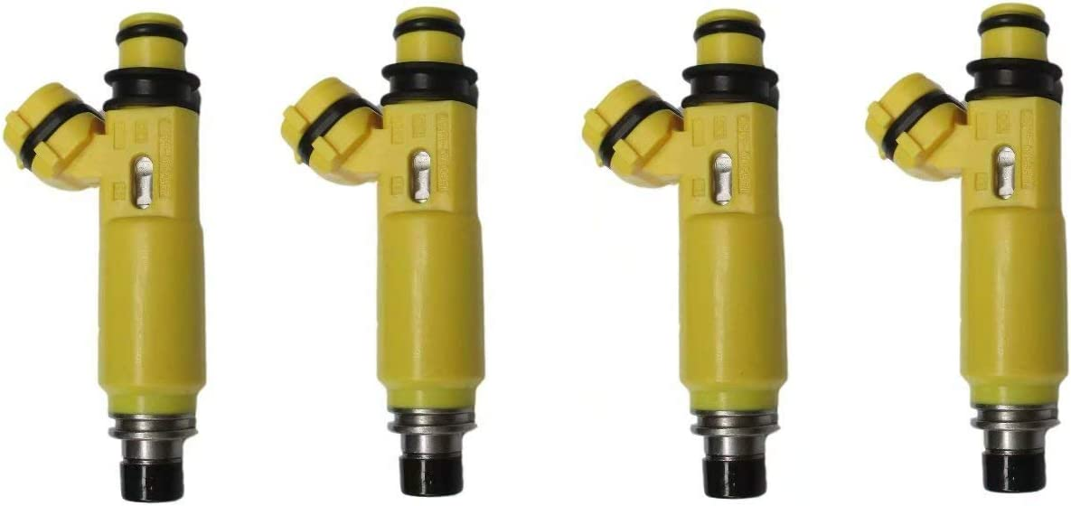 4X Safety and trust Yellow Genuine Free Shipping Fuel Injectors Fit Mazda RX-8 For 04-08 NO.195500-4450
