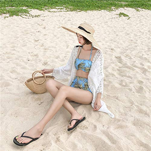 Yyh Cardigan Strand-verflaag chiffon bloemen boho zomer cardigan kimono blouse vrouwen Eén maat wit