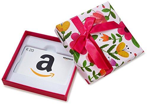 Amazon.de Geschenkkarte in Geschenkbox - 20 EUR (Blumen)