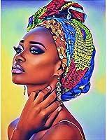 アブストラクトアートアフリカンキャラクターイメージ壁画オイルペインティング、ファミリールームデコレーションペインティング(写真18)