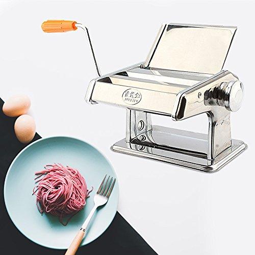 Acciaio inossidabile macchina per la pasta, professionale per macchina per la pasta fresca lasagne spaghetti tagliatelle, con morsetto da tavolo da cucina set