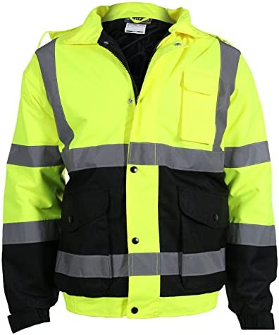 Utility Recommended Pro Men's Class 3 High Visibility Regular dealer w Bomber Jacket 3-in-1