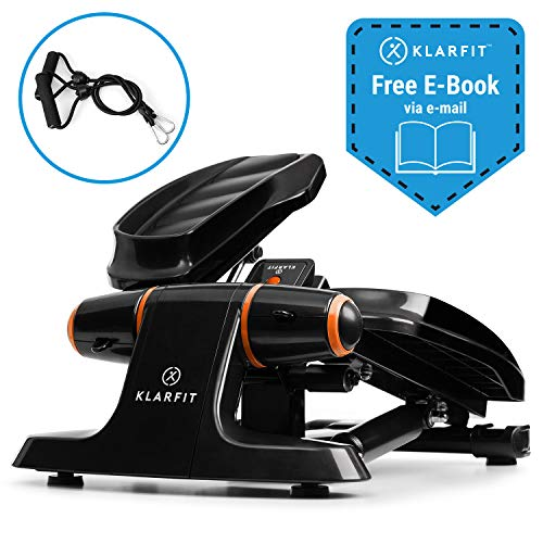 KLAR FIT Galaxy Step - Mini Stepper Fitness , 2 Power Ropes , Charge 120kg , eBook Fitness Inclus ,...