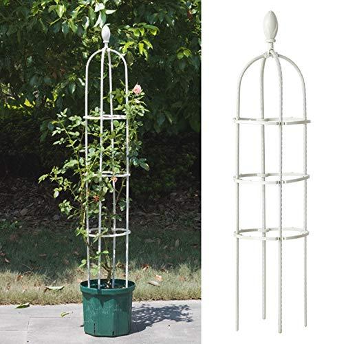 ADIBY Garten-Obelisk Rankgitter Garten Pflanze Unterstützung Käfige Garten Obelisk Outdoor Rose Baum Kletterpflanzen Rahmen Ständer...