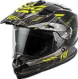Fly Racing 2020 Trekker Helmet - Quantum (X-Large) (Black/Grey/HI-VIZ)