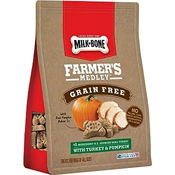 Milk-Bone Farmer s Medley Dog Treats Turkey & Pumpkin 12 Ounces  Pack of 4  Grain Free
