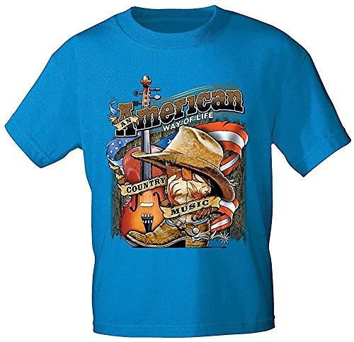 Fan-O-Menal Textilien Camiseta con Impresión - American Way of Life Country Music - 10249 Turquesa Talla S 3XL - Turquesa, S