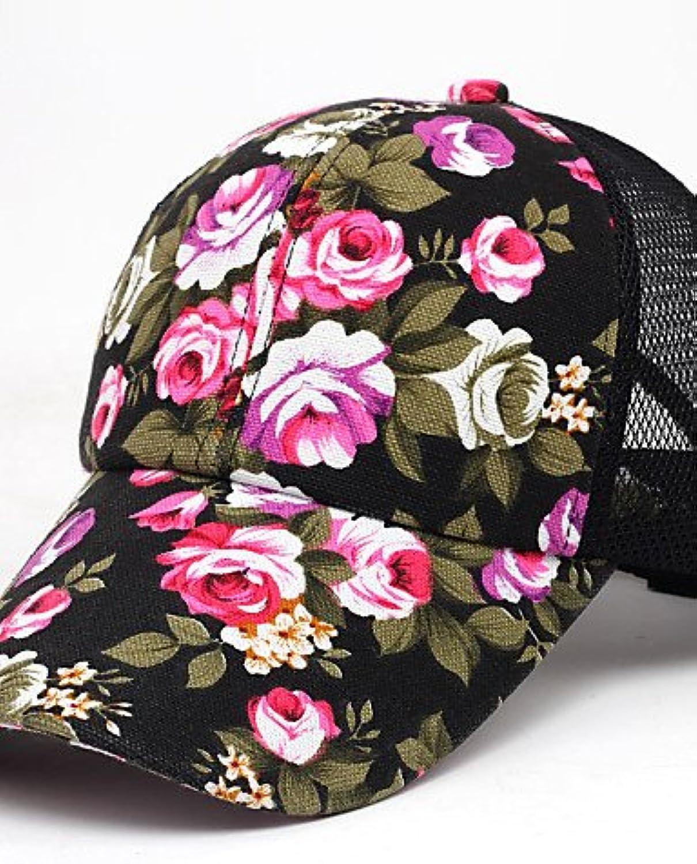 Suvsertu Women's Korean Style Floral Pattern Sport Outdoor Baseball Cap DSJ 1383