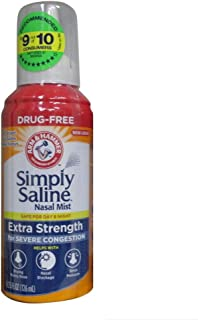 Simply Saline Nasal Mist Extra Strength Severe Congestion 4.25 oz (Pack of 2)