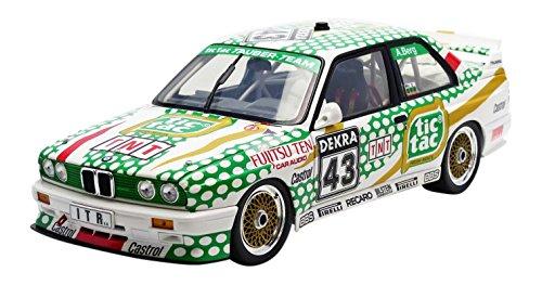 Minichamps–180912043–BMW M3Tic Tac–noristing DTM 1991–Scala 1/18–Bianco/Verde