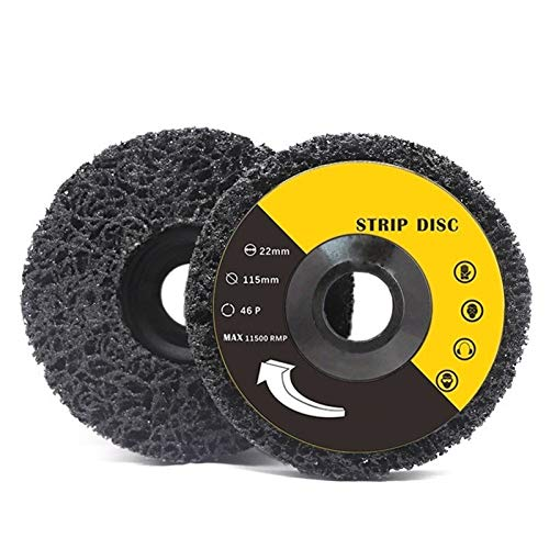 Wnuanjun 2 Piezas de 125 mm Amoladora Angular Poli Gaza Disco for Limpiar Disco abrasivo Quitar el óxido de Pintura de Coches 115mm Disco abrasivo (tamaño : 2pcs 115mm)