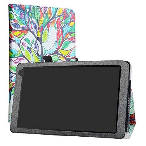Alcatel 1T 10inch Funda,LiuShan Folio Soporte PU Cuero con Funda Caso para 10' Alcatel 1T 8082 10inch(Not fit Alcatel 1T 7 Inch 8068) Android Tablet,Love Tree
