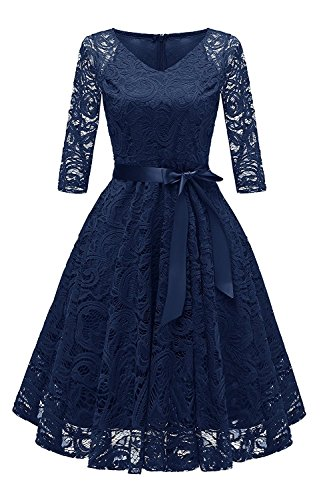RAISEVERN Mujeres Midi Dress Evening Party Vestidos para Dama de Honor de Invitados de Boda Prom Formal Occasion XL