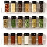 """'Invisible' Acrylic Spice Rack Wall Mount Organizer [3 Pack, 15"""" Clear Shelves] Strong, Sturdy & Space-Saving"""