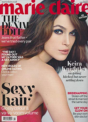 MARIE CLAIRE UK MAGAZINE MAY 2013, KEIRA KNIGHTLEY, SEXY HAIR, THE DENIM EDIT.