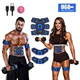 Abs Stimulator Ab Stimulator Muscle Toner Rechargeable Muscle Trainer Ultimate Abs Stimulator for Men Women