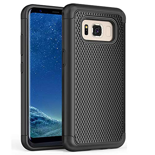 Minkuke Samsung Galaxy S8 Plus Case Football Wave Point 2 in 1 Mixed Armor Protection Fashion Case Cover Shell for Samsung Galaxy S8 Plus Case (Black)