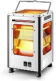 Cubierta de calefacción portátil de acero inoxidable calentadores de ventilador industriales comerciales calentador de múltiples lados asa de transporte integrada resistente al calor ideal para gara