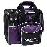 Moxy Deluxe Single Tote Bowling Bag,Purple/Black