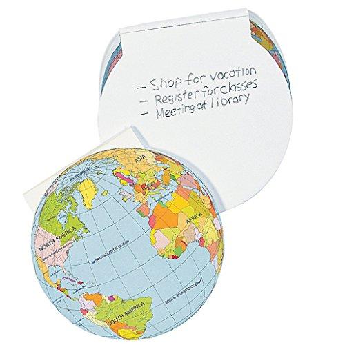 Elfen und Zwerge 6 x Mitgebsel Notizblock Erde Welt Kindergeburtstag Blöcke Notizen Block Papier Globus