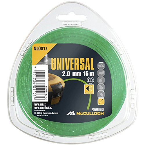 Universal GM577616313 Corte, NLO013 de Repuesto para Recortadora, Longitud 15 m, Hilo Ø 2,0 mm, tecnología patentada con Funcionamiento silencioso, Standard
