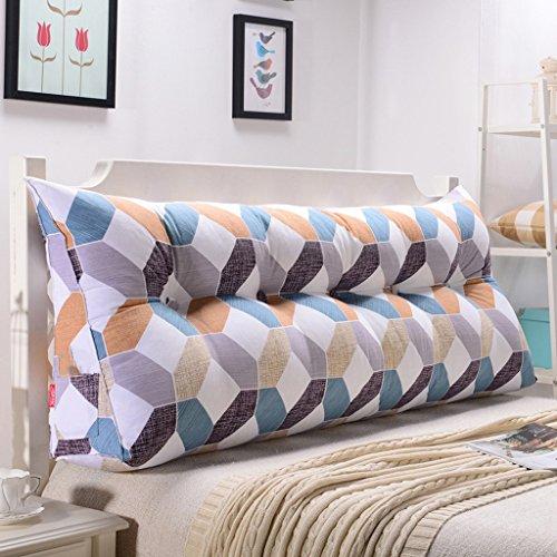 Uus Gris Carré Triangle Sofa Coussin Coussin de tête de lit Conception ergonomique Dossier et la taille Couverture lavable en environnement avec 3D Haut élastique de coton perlage de remplissage Pillo