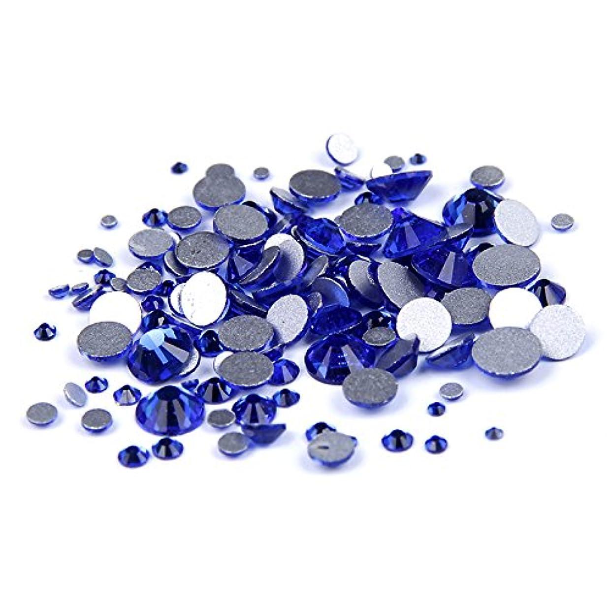 準備四回手綱Nizi ジュエリー ブランド カップリブルー ラインストーン は ガラスの材質 ネイル使用 型番ss3-ss34 (混合サイズ 1000pcs)