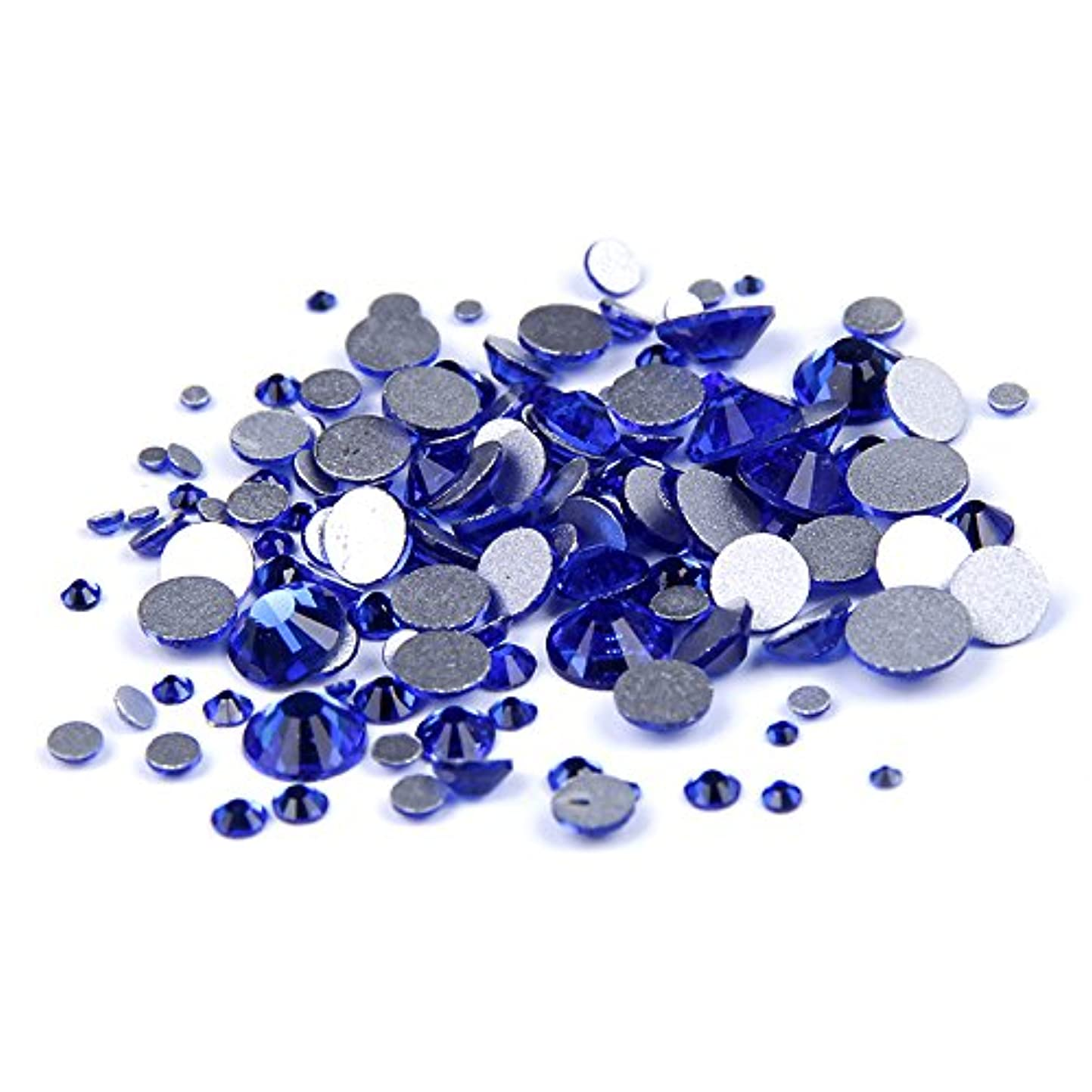 用心不正皿Nizi ジュエリー ブランド カップリブルー ラインストーン は ガラスの材質 ネイル使用 型番ss3-ss34 (混合サイズ 1000pcs)
