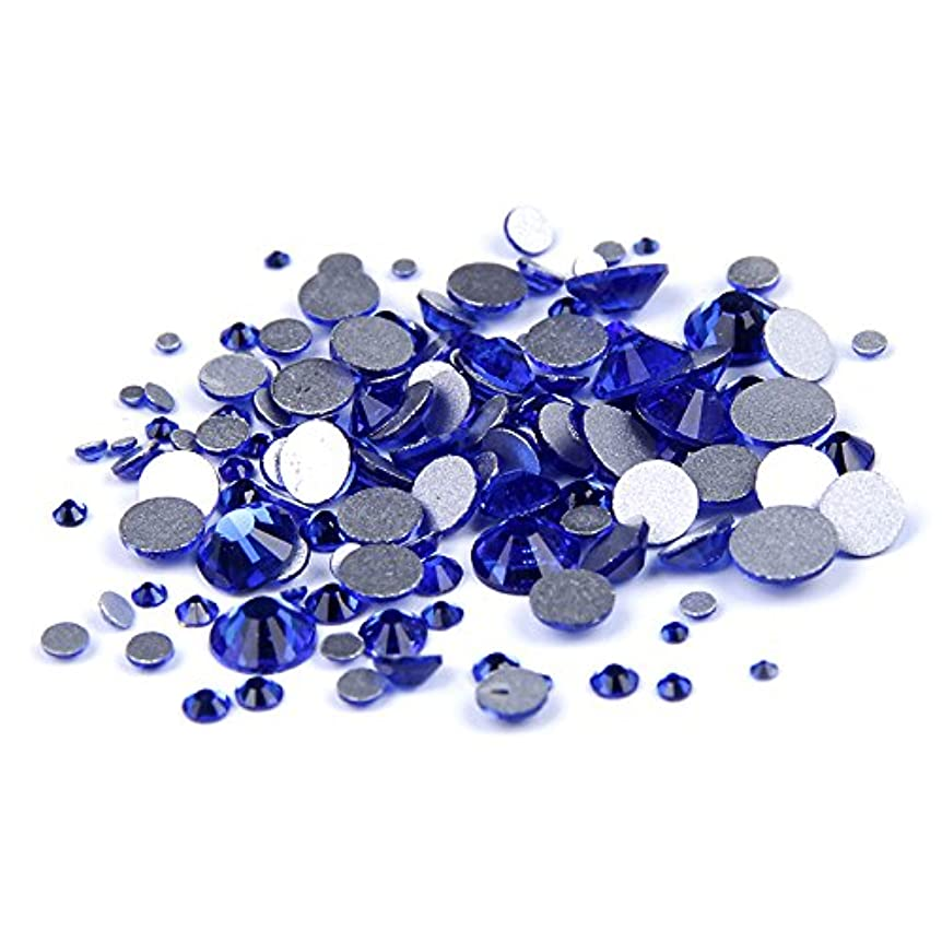 入植者もっと対Nizi ジュエリー ブランド カップリブルー ラインストーン は ガラスの材質 ネイル使用 型番ss3-ss34 (混合サイズ 1000pcs)