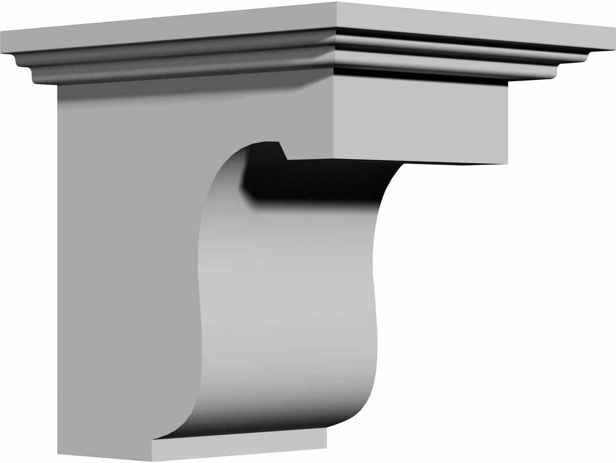 Excellence Ekena Max 62% OFF Millwork BKT04X06X06LE-CASE-4 Legacy Prim Factory Bracket