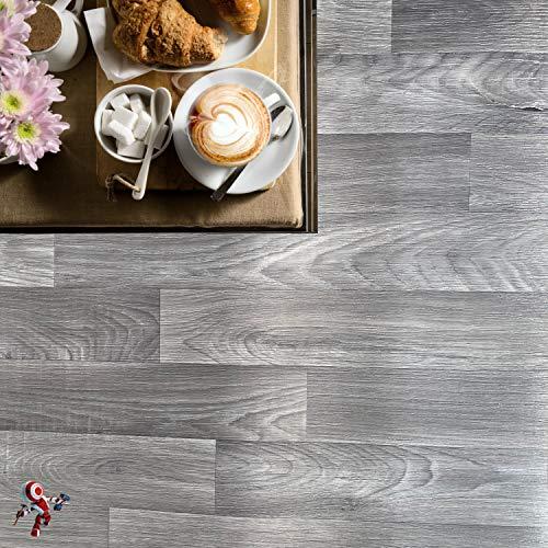 Pavimenti pvc per esterno e interno Altezza 200 cm PREZZO AL MQ! pavimento pvc effetto legno pavimento pvc effetto porfido pavimento pvc effetto piastrella alta resistenza (HORIZON GRIGIO)