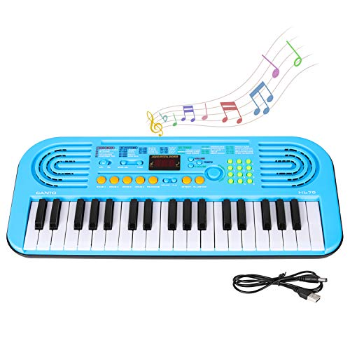 M SANMERSEN Keyboard Piano for Kids 37-KeyPortable Keyboard Piano Kids Electronic Piano Keyboard with LED Screen Display Music Instrument Toys for Kids Boys Girls Child