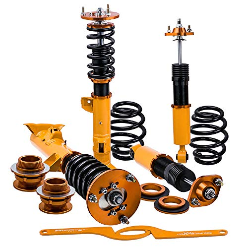 Autoslegend for BMW E36 Coilovers, Shock Absorders with Non-Adjustable Damper for BMW E36 1992-1999 318i 320i 323i 328i M3 - Gold