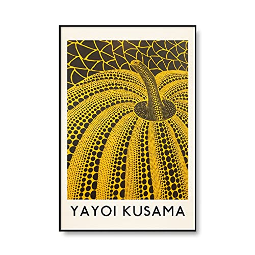 Carteles e impresiones de exposiciones de arte de Kusama Yayoi, decoración de imagen de arte de pared de calabaza infinita, pintura de lienzo sin marco A1 40x60cm