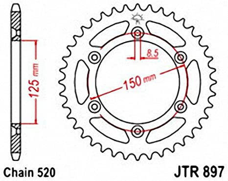 JT Rear Sprocket 38T 520P JTR897.38 Steel Husaberg FE 650 E Enduro 2008
