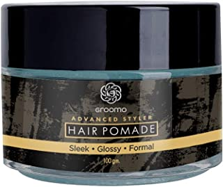 GROOMO Advanced Styler Hair Pomade - 100 g | Water Based, Strong Hold & Non-Greasy | Made In India
