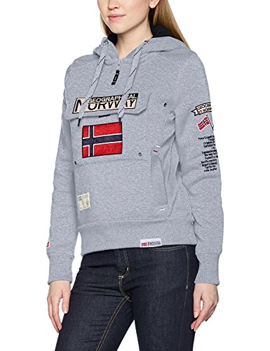 Geographical Norway GWN832F/GN, Sudadera con Capucho Para Mujer, Gris (BLENDED GREY), XX-Large (talla del fabricante: 5)