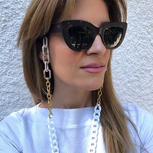 Bohend Moda Cadena de gafas de sol Acrílico Cadena de mascarilla Mujeres Accesorios de cadena de gafas Para Gafas de sol y mascarillas