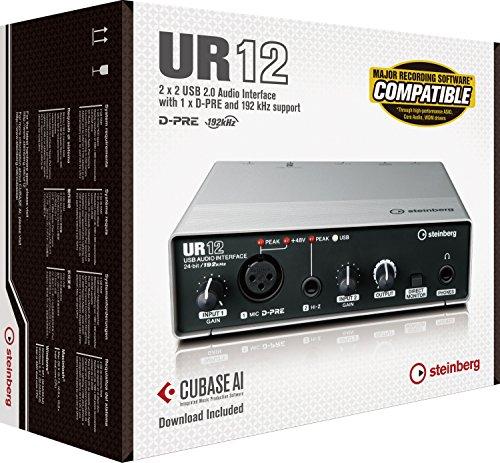 Steinberg UR12 - Interfaces de audio USB, plata