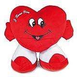 LOYFER Corazón Grande de Peluche, con pies. I Love You. 63 cms. de Altura, 63 cms. de Anchura.