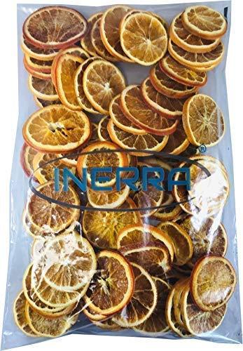 INERRA Getrocknet Orange Scheiben - Natürlich Weihnachten Potpourri Parfümiert Girlande Baum & Kranz Dekorationen - 500 Grams