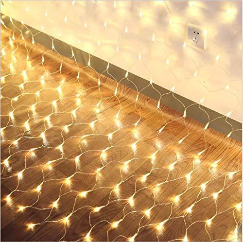 Luces LED de cuento de hadas, para Luces de hadas Luz de red LED, Luz de red de pesca Luz de modelado de red, Blanco cálido, Decoración fantástica, 4 * 6