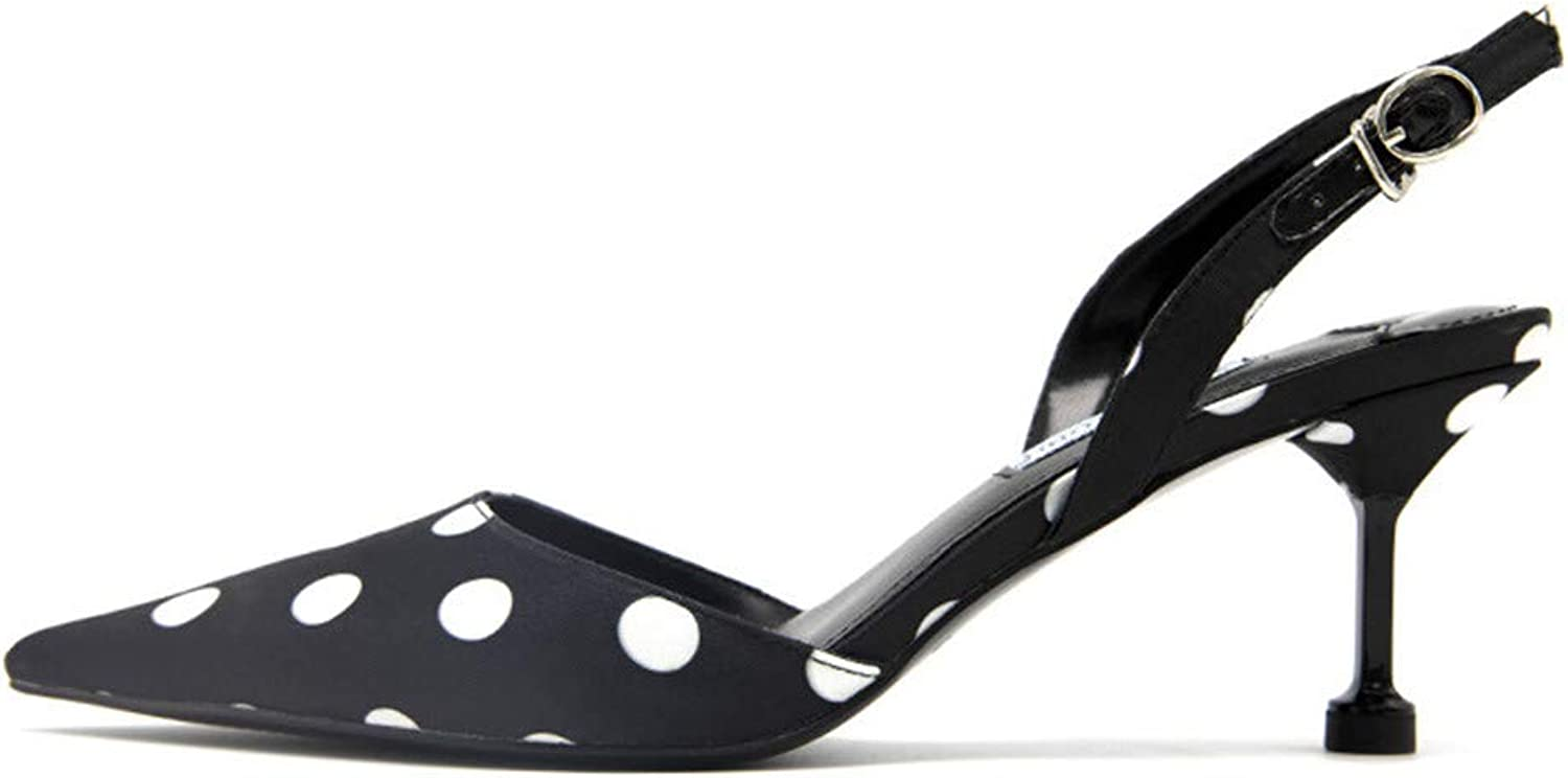 Meiren High-Heeled Women's shoes Stiletto Pointed shoes Black shoes