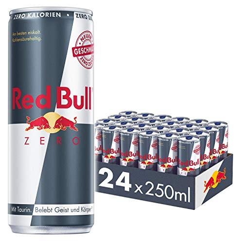 Red Bull Energy Drink Zero Dosen Getränke Zuckerfrei 24er Palette, EINWEG (24 x 250 ml)