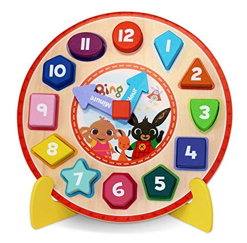 Bing 1017 - Reloj de Madera con Soporte, diseño de Rompecabezas, Multicolor