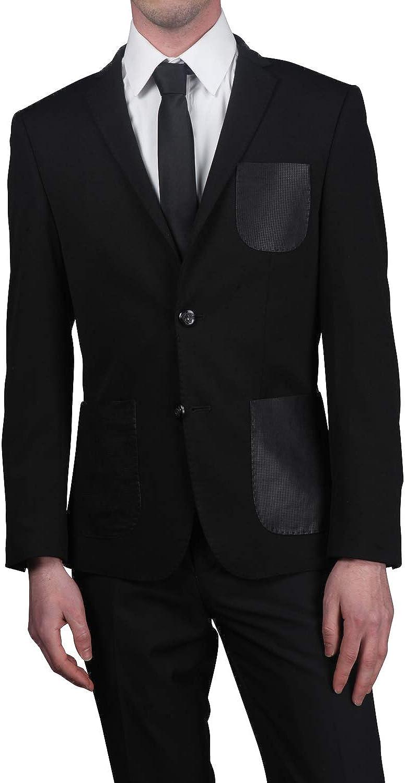 Elie Balleh Men's Two Tone Slim Fit Jacket Two Button Sport Coat - Colors