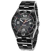 Maserati Men's Meccanica R8853111001 Black Stainless-Steel Swiss Quartz Dress Watch