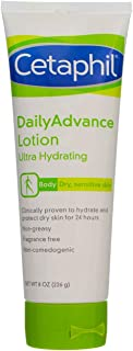 Cetaphil DailyAdvance Ultra Hydrating Lotion for Dry/Sensitive Skin 8 oz (Pack of 8)