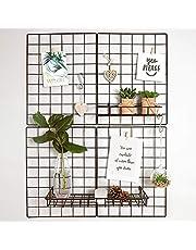 Gadgy Rejilla Pared Plegable Decorativas Juego de 2 | Marcos de Fotos para Pared | Photo Wall Panel | Decoración Hogar Estilo Nórdico