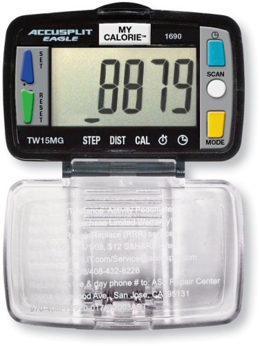 ACCUSPLIT Eagle AE1690 Steps, Distance and Calories Pedometer